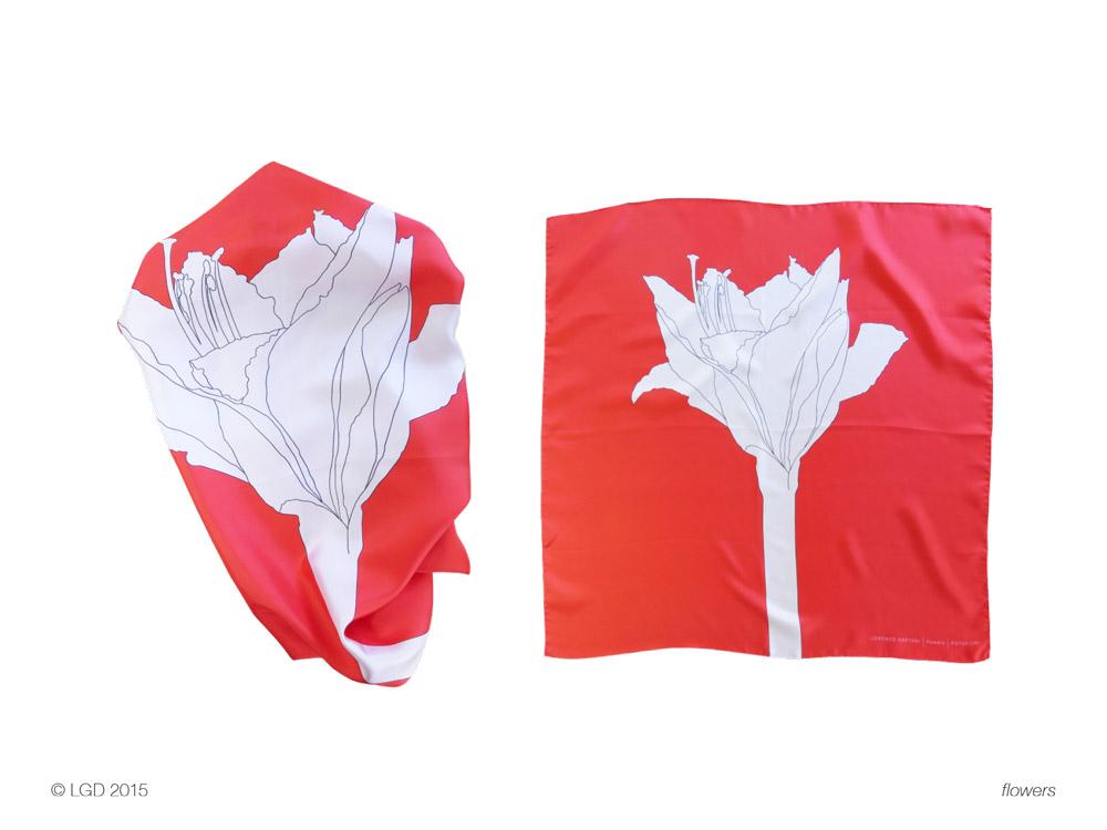 Lorenzo Gaetani Design - Flowers foulards