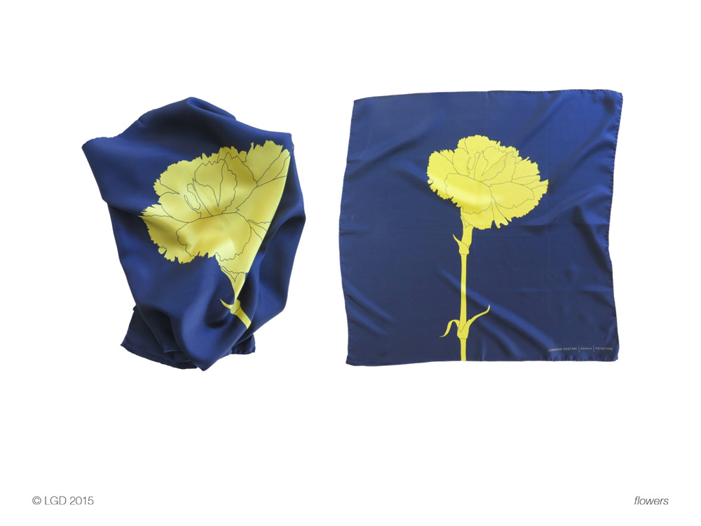 Lorenzo Gaetani Design - Flowers foulards