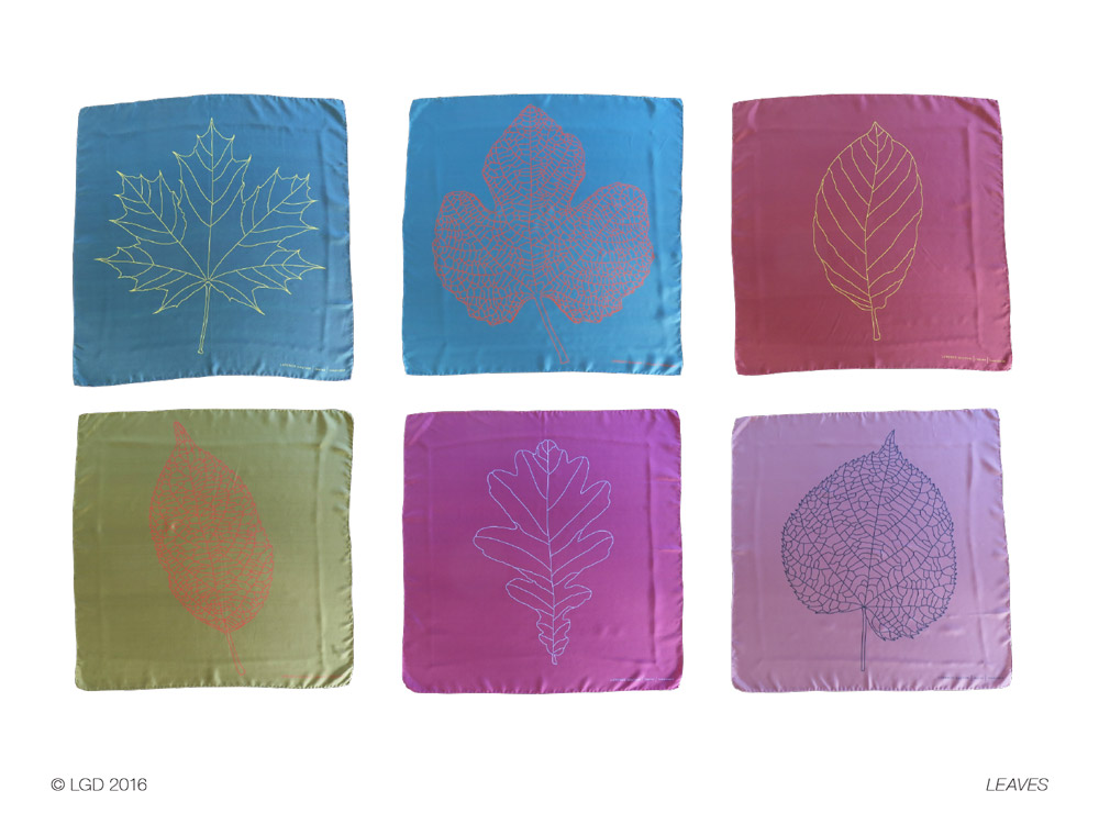 Lorenzo Gaetani Design - Leaves - foulards