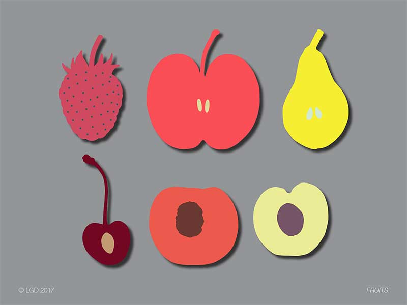 LORENZO GAETANI DESIGN Fruits Scarves