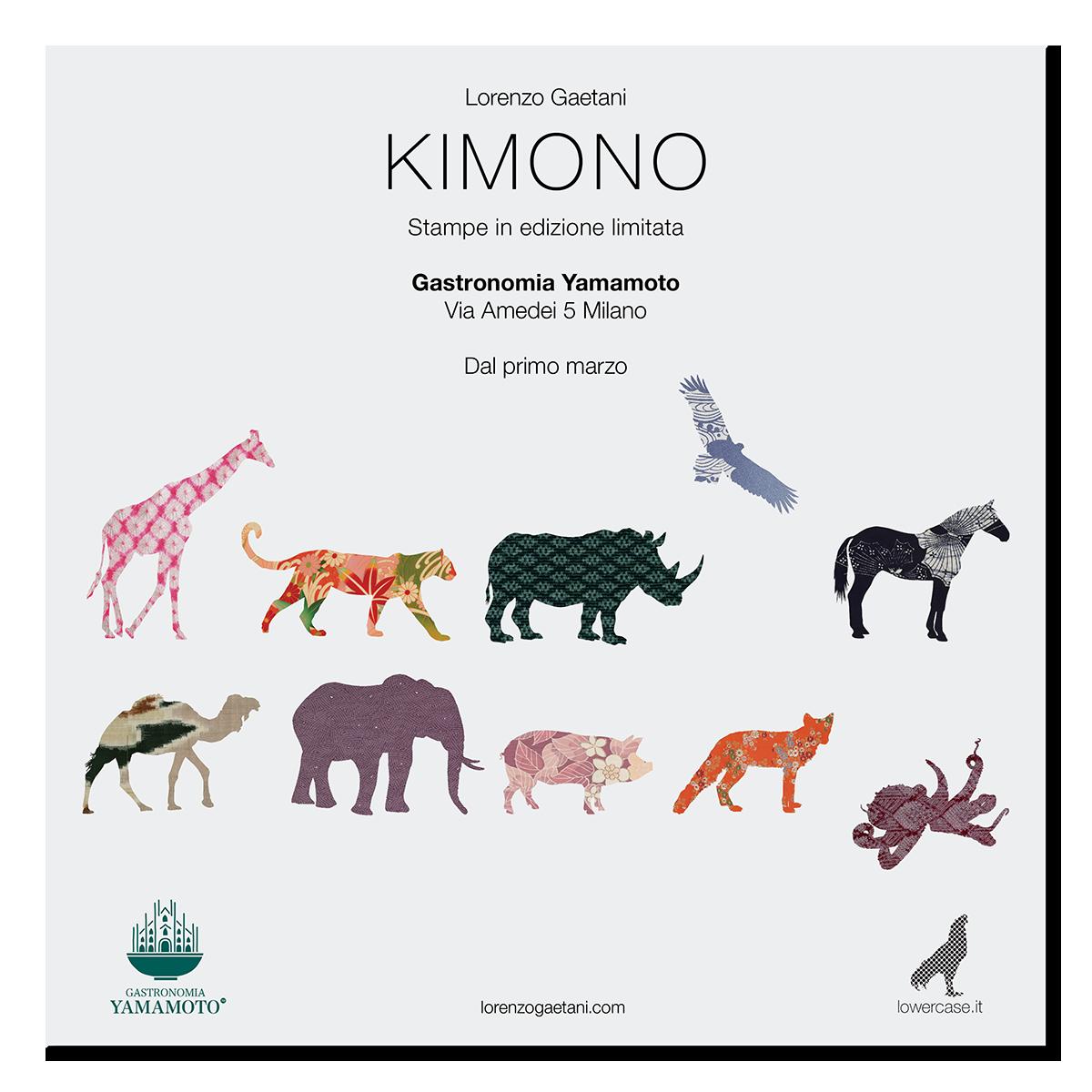 LORENZO GAETANI DESIGN KIMONO Stampe Gastronomia Yamamoto Milano