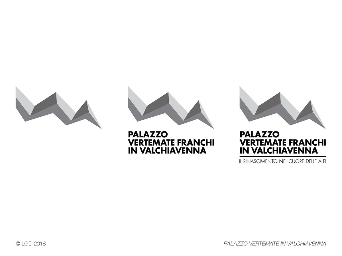 LORENZO GAETANI DESIGN Palazzo Vertemate in Valchiavenna Marchio Progetto grafico Graphic Design