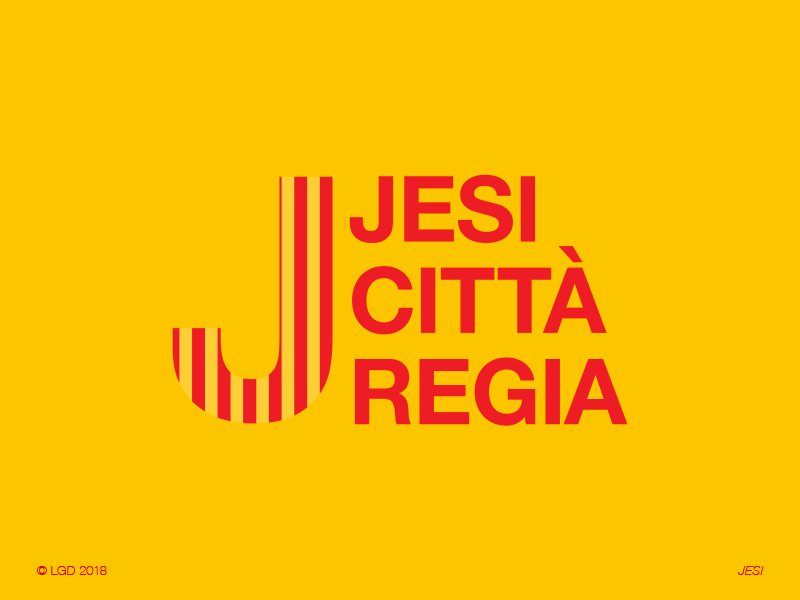 LORENZO GAETANI DESIGN Città di Jesi Logo and City Identity 2018