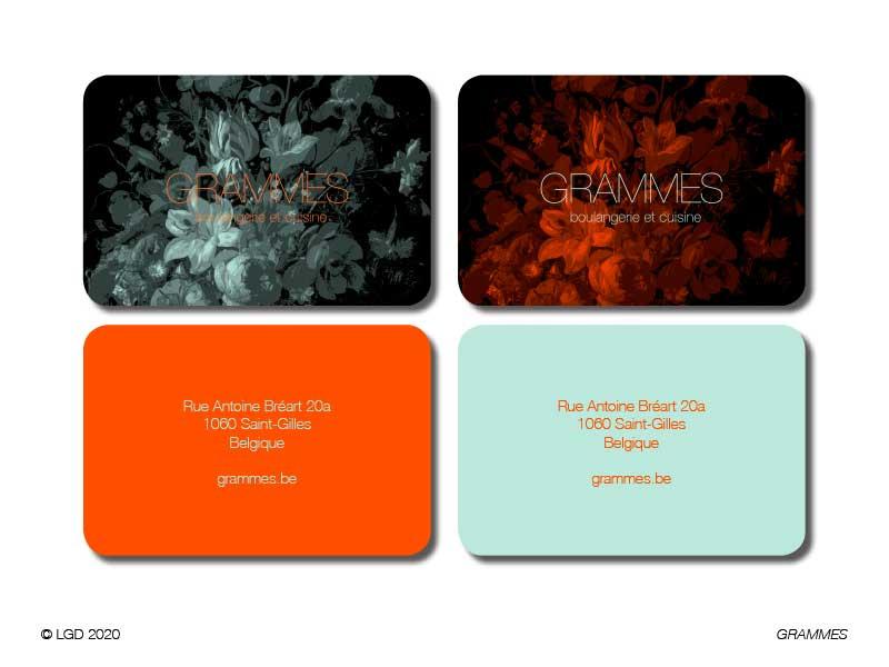 LORENZO GAETANI DESIGN 2020 Grammes Bruxelles Brand Identity